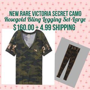 🌺 New Rare Victoria Secret Camo Bling Set 🌺